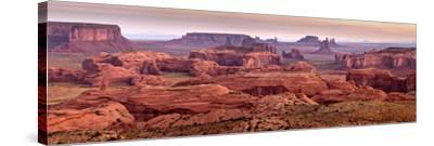 USA, Arizona, Monument Valley. Panoramic View from Hunt's Mesa at Dawn-Ann Collins-Stretched Canvas Print