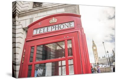 Red Telephone Box and Big Ben (Elizabeth Tower), Houses of Parliament, Westminster, London, England-Matthew Williams-Ellis-Stretched Canvas Print