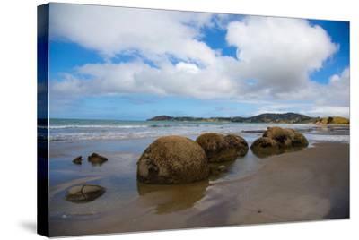 Moeraki Boulders, Koekohe Beach, Otago, South Island, New Zealand, Pacific-Suzan Moore-Stretched Canvas Print