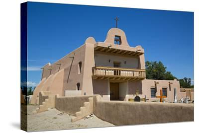Pueblo Mission, San Ildefonso Pueblo, Pueblo Dates to 1300 Ad, New Mexico, United States of America-Richard Maschmeyer-Stretched Canvas Print