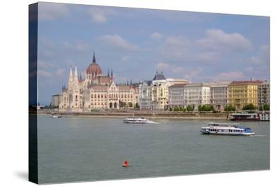 The Hungarian Parliament Building, Budapest, Hungary, Europe-Carlo Morucchio-Stretched Canvas Print
