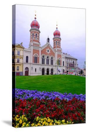The Great Synagogue, Pilsen (Plzen), Western Bohemia, Czech Republic, Europe-Carlo Morucchio-Stretched Canvas Print