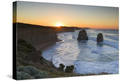 Twelve Apostles at Dawn, Port Campbell National Park, Great Ocean Road, Victoria, Australia-Ian Trower-Stretched Canvas Print
