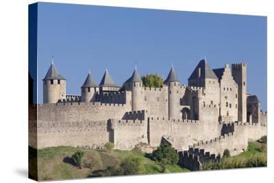 La Cite, Medieval Fortress City, Carcassonne, Languedoc-Roussillon, France-Markus Lange-Stretched Canvas Print