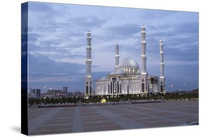 Hazrat Sultan Mosque, the Largest in Central Asia, at Dusk, Astana, Kazakhstan, Central Asia-Gavin Hellier-Stretched Canvas Print