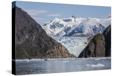 Scenic Views of the South Sawyer Glacier in Tracy Arm-Fords Terror Wilderness Area, Alaska-Michael Nolan-Stretched Canvas Print