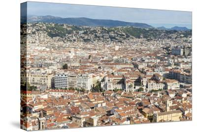 Cityscape Skyline View over the City of Nice, French Riviera-Chris Hepburn-Stretched Canvas Print