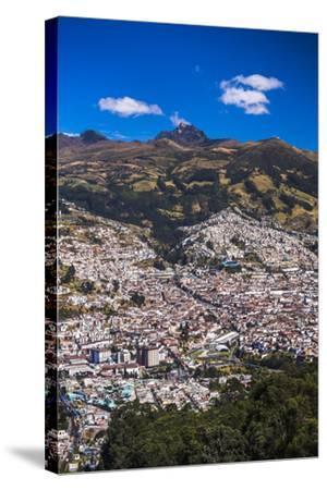 Quito, with Pichincha Volcano in the Background, Ecuador, South America-Matthew Williams-Ellis-Stretched Canvas Print