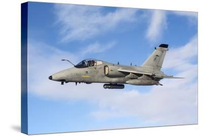 An Italian Air Force Amx During an Air-To-Air Refueling Operation-Stocktrek Images-Stretched Canvas Print