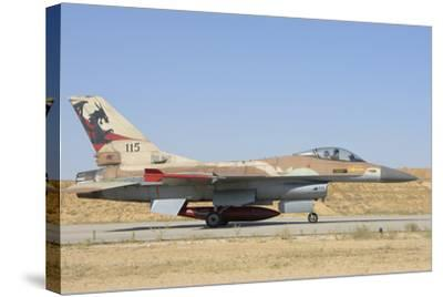 Israeli Air Force F-16 at Nevatim Air Base, Israel-Stocktrek Images-Stretched Canvas Print