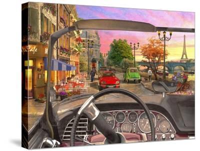 Paris in a Car-Dominic Davison-Stretched Canvas Print