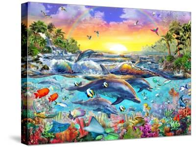Tropical Cove-Adrian Chesterman-Stretched Canvas Print