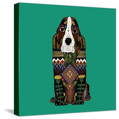 Basset Hound Jade-Sharon Turner-Stretched Canvas Print