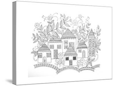 Houses-Neeti Goswami-Stretched Canvas Print