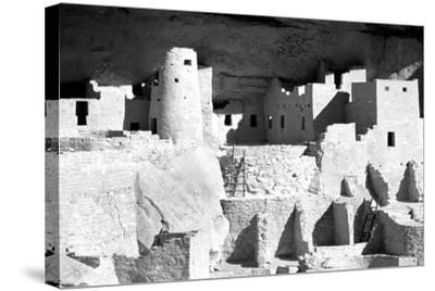 Cliff Palace Ruins BW-Douglas Taylor-Stretched Canvas Print