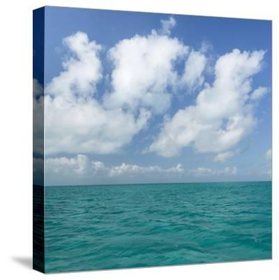 Tropical Seascape I-Kathy Mahan-Stretched Canvas Print