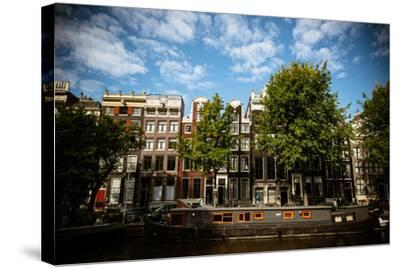Amsterdam Canal Houses II-Erin Berzel-Stretched Canvas Print