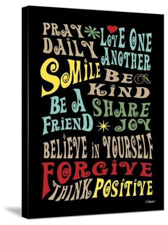 Words to Live by II-Todd Williams-Stretched Canvas Print