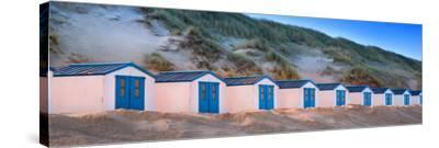 Netherlands, Holland, on the West Frisian Island of Texel, North Holland, Huts on the Beach-Beate Margraf-Stretched Canvas Print