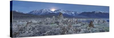 Moonrise, Tuff, Mono Lake, Sierra Nevada, California, Usa-Rainer Mirau-Stretched Canvas Print