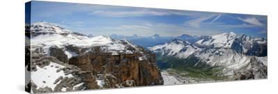 Italy, South Tyrol, the Dolomites, Sella, Marmolata, Panorama-Alfons Rumberger-Stretched Canvas Print