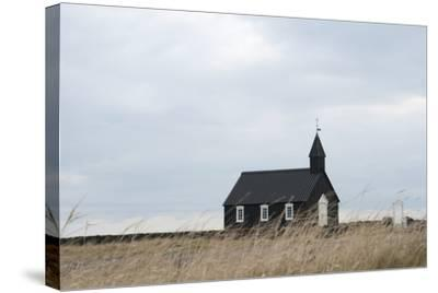 Church of Budir, Snaefellsnes, West Iceland-Julia Wellner-Stretched Canvas Print