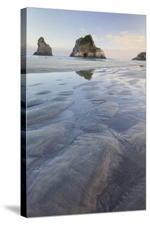 Archway Islands, Wharariki Beach, Tasman, South Island, New Zealand-Rainer Mirau-Stretched Canvas Print