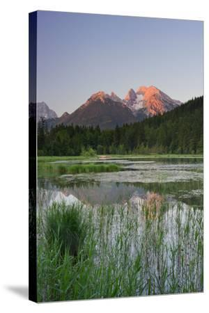 Pigeon Lake, Cold for High, Berchtesgadener Land District, Bavaria, Germany-Rainer Mirau-Stretched Canvas Print