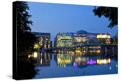 Germany, North Rhine-Westphalia, Cologne, Mediapark, Cinedom, Evening Light-Chris Seba-Stretched Canvas Print