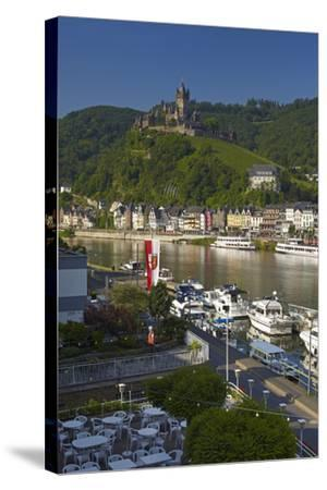 Germany, Rhineland-Palatinate, the Moselle, Cochem, Castle-Chris Seba-Stretched Canvas Print