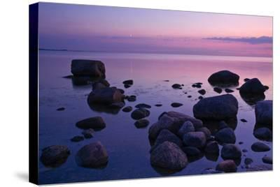 Fehmarnsund, Baltic Sea, Evening-Thomas Ebelt-Stretched Canvas Print