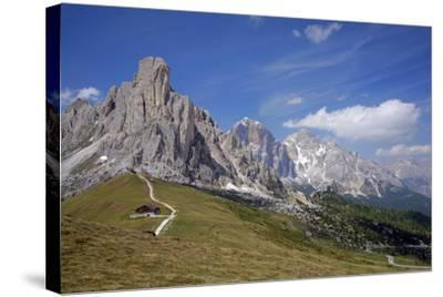 Italy, South Tyrol, the Dolomites, Passo Giau, Ra Gusela, Tofana-Alfons Rumberger-Stretched Canvas Print