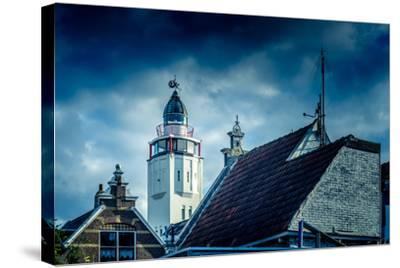 The Netherlands, Frisia, Harlingen, Harbour, Lighthouse-Ingo Boelter-Stretched Canvas Print