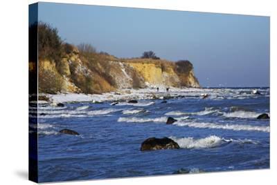 Surf at the Baltic Sea Steep Coast Near Boltenhagen-Uwe Steffens-Stretched Canvas Print