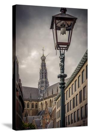 The Netherlands, Haarlem, City Centre, Market, Church, St. Bavo-Ingo Boelter-Stretched Canvas Print