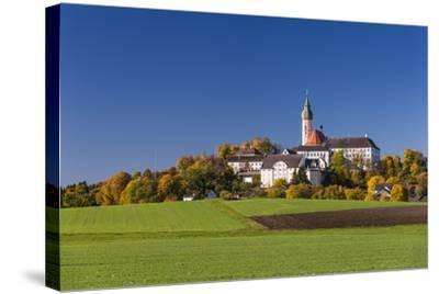 Germany, Bavaria, Upper Bavaria, 'FŸnf Seen Land' (Region), Andechs, Autumn Landscape with Andechs-Udo Siebig-Stretched Canvas Print