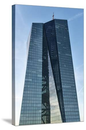 Germany, Hesse, Frankfurt on the Main, New Building of the European Central Bank-Bernd Wittelsbach-Stretched Canvas Print
