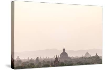 Sunrise over Ancient Temples of Bagan, Myanmar-Harry Marx-Stretched Canvas Print
