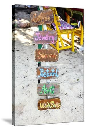 Signs, Brightly Coloured, Hand-Painted, Beach Bar, Unique-Andrea Haase-Stretched Canvas Print