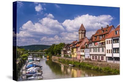 Germany, Baden-W?rttemberg, Main-Tauber-Region, Wertheim, Tauberufer-Udo Siebig-Stretched Canvas Print