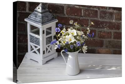Bouquet, Summer Flowers, Lantern-Andrea Haase-Stretched Canvas Print