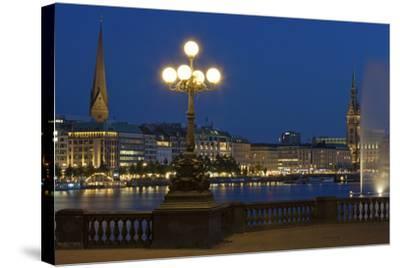 Europe, Germany, Hamburg, the Inner Alster, Evening-Chris Seba-Stretched Canvas Print