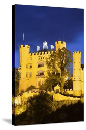 Hohenschwangau Castle, F?ssen, Allg?u, Upper Bavaria, Bavaria, Germany-Rainer Mirau-Stretched Canvas Print