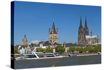 Europe, Germany, North Rhine-Westphalia, Cologne, Old Town-Chris Seba-Stretched Canvas Print