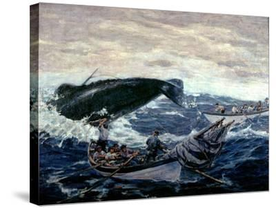 Sperm Whaling Fast Boat Ca. 1900-1930-Clifford Warren Ashley-Stretched Canvas Print