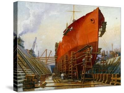Segovia at Newport News Ship Building and Dry Dock No. 2-Thomas C. Skinner-Stretched Canvas Print