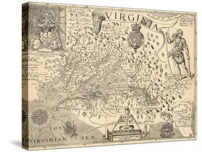 Map of Virginia-William Gilmore Simms-Stretched Canvas Print