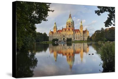 New Town Hall, Maschteich, Machpark, Hanover, Lower Saxony, Germany-Rainer Mirau-Stretched Canvas Print