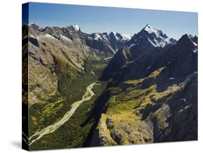 Tutoko River, Valley, Fiordland National Park, Southern Alps, Southland, South Island, New Zealand-Rainer Mirau-Stretched Canvas Print