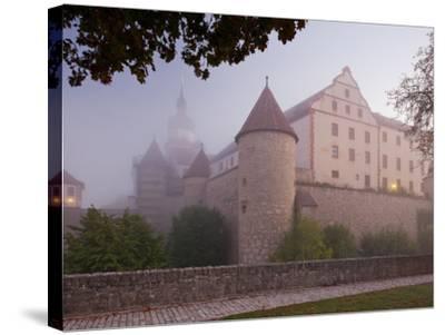 Fortress Marienberg in the Fog, WŸrzburg (City), Bavaria, Germany)-Rainer Mirau-Stretched Canvas Print